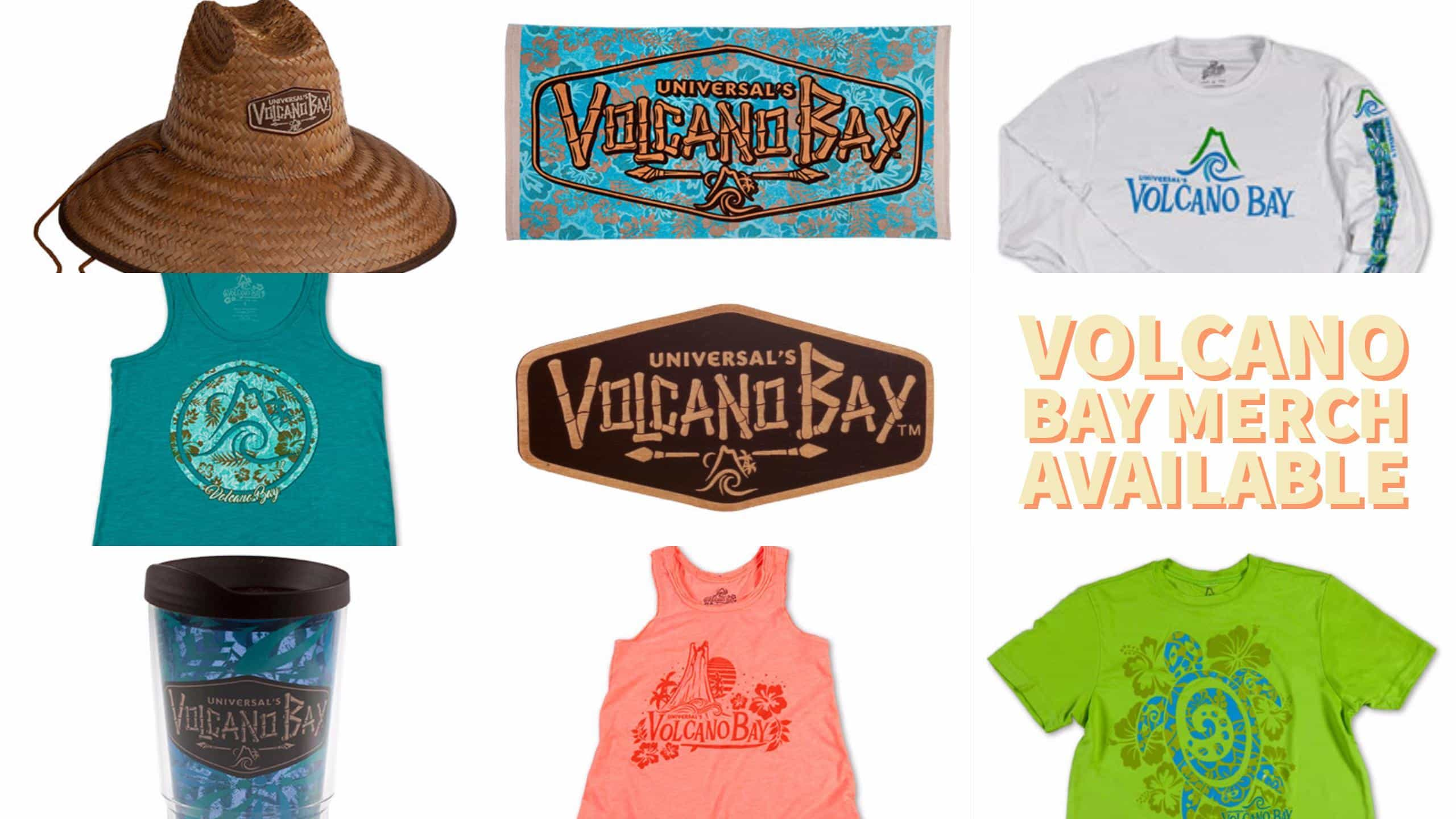 Volcano Bay merchandise available now