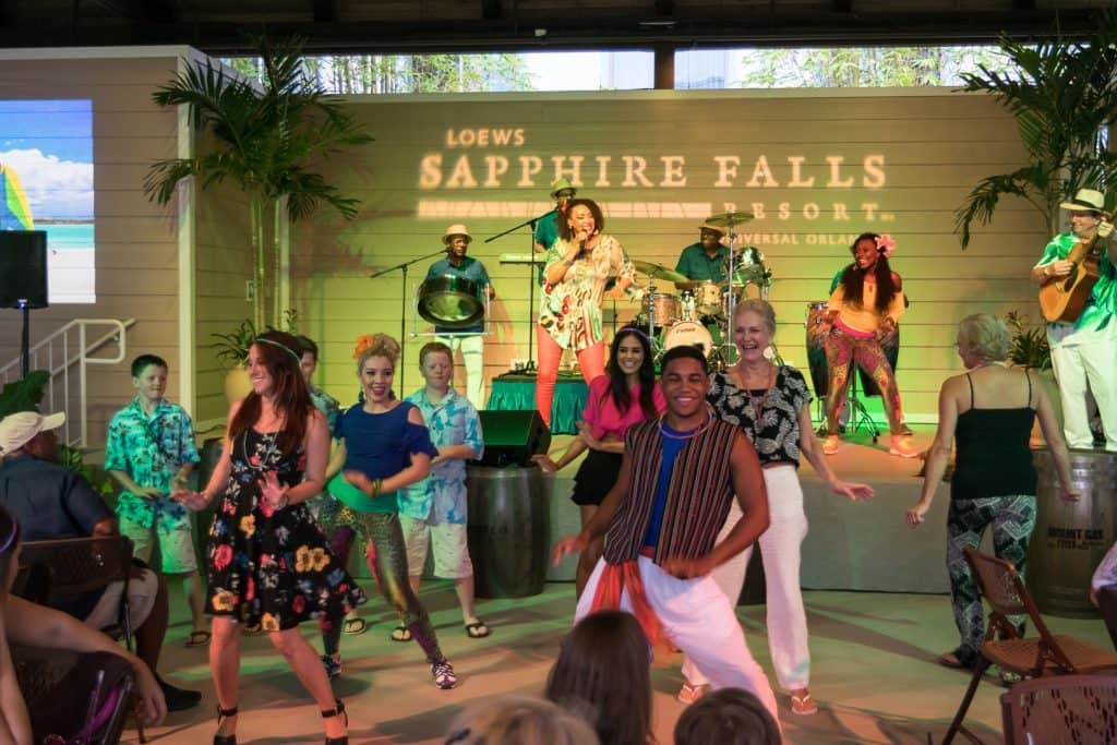 Entertainment at Caribbean Carnaval at Universal's Sapphire Falls Resort