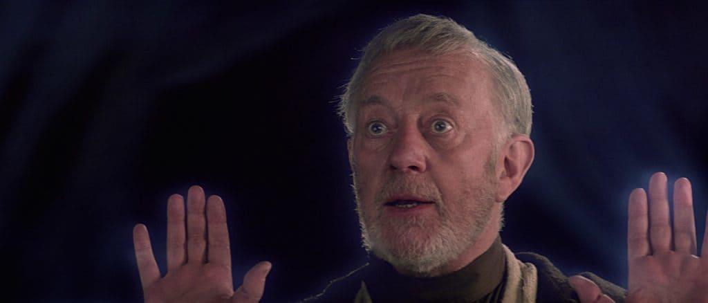 Obi-Wan Kenobi shocked