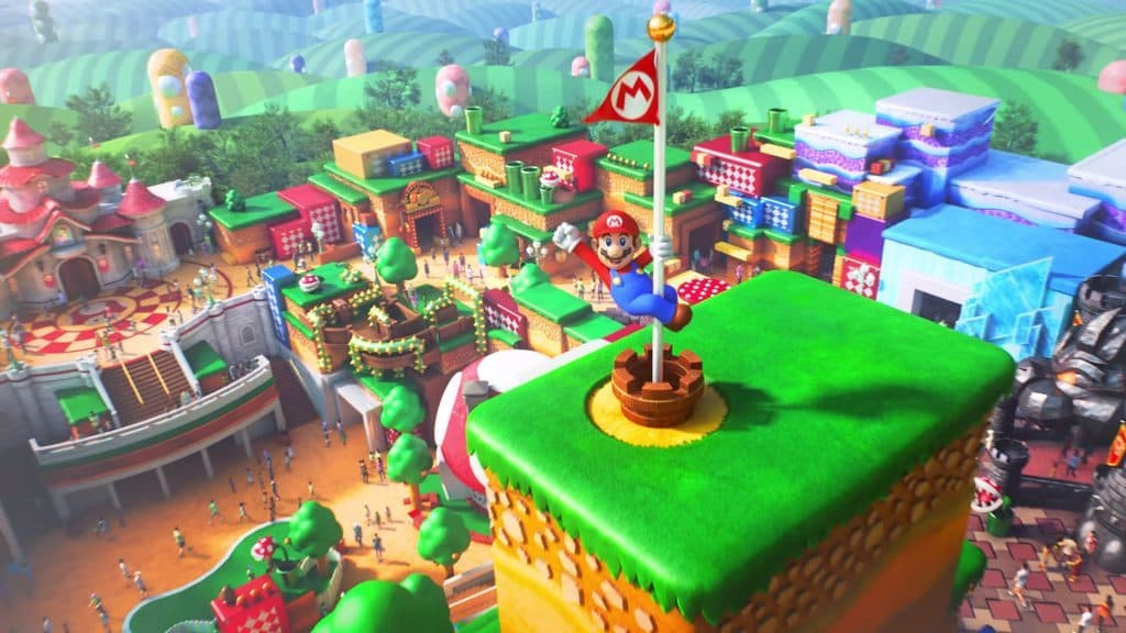 Overview shot of Universal's Super Nintendo World