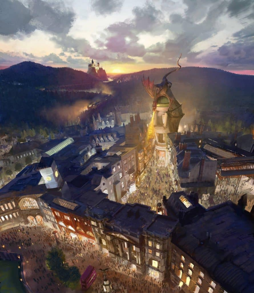 The Wizarding World of Harry Potter - Diagon Alley concept art