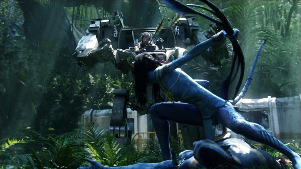 The war between humans and Na'vi in Avatar