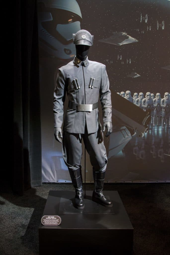 Costume display at the Star Wars Land pavilion at D23 Expo 2017
