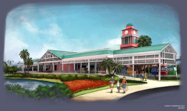 Disney Skyliner Caribbean Beach Resort Station