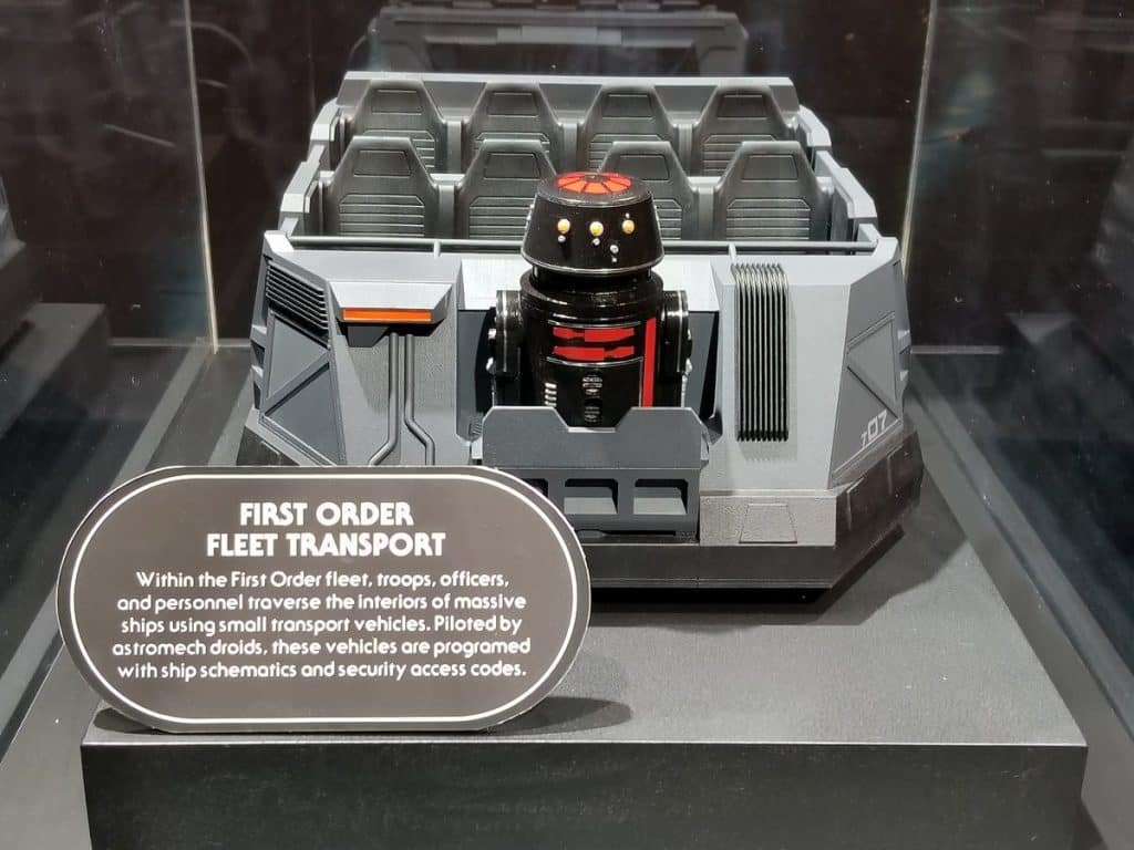 First Order battle ride vehicle at Star Wars Land