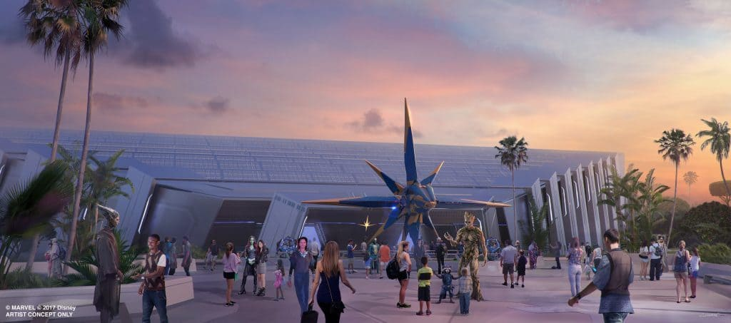 Guardians of the Galaxy coming to Epcot concept art