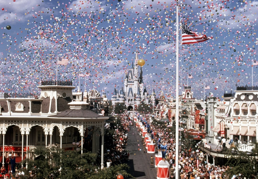 Magic Kingdom on opening day