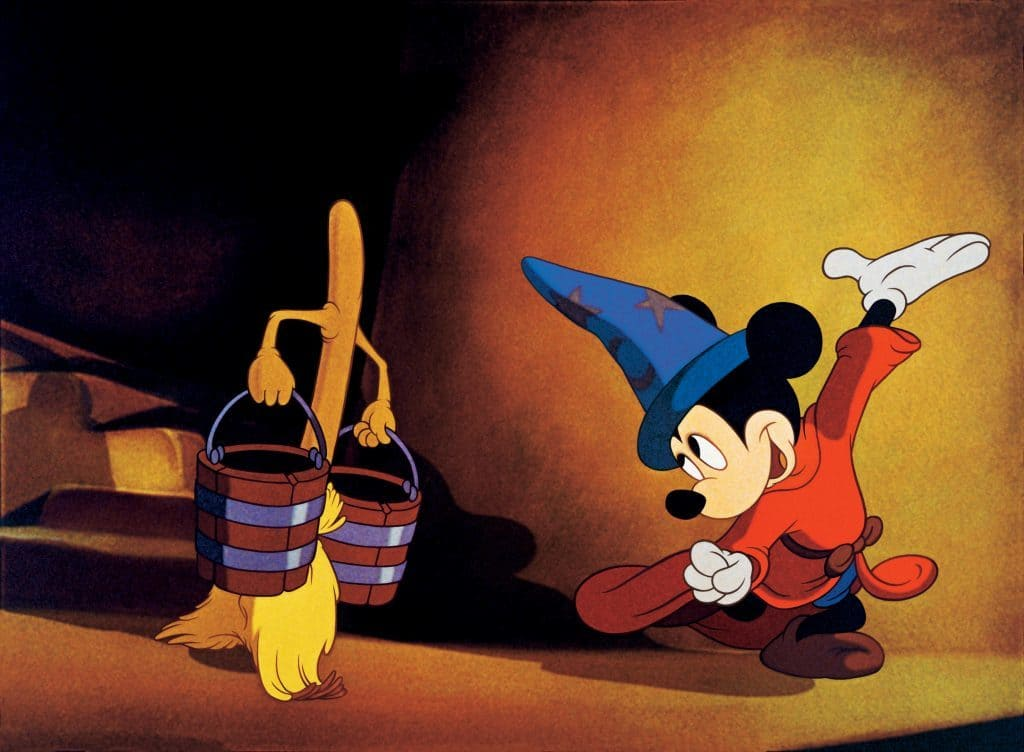 Mickey as the Sorcerer's Apprentice