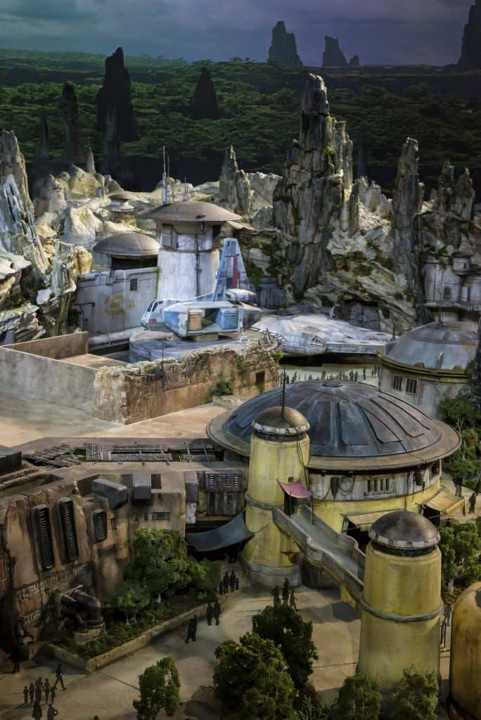 Millennium Falcon parked at Star Wars Land