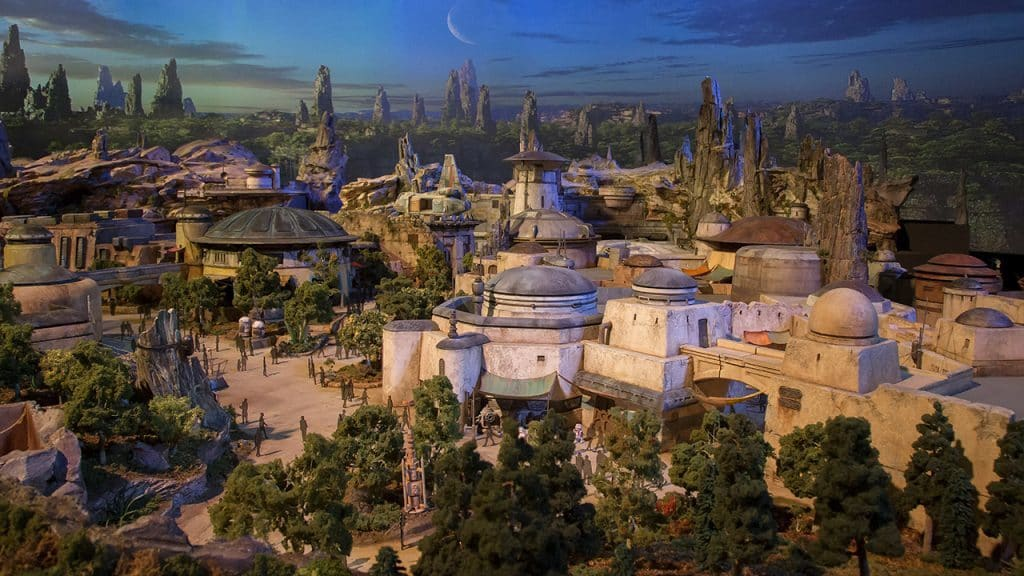 Star Wars Land at Disney's Hollywood Studios model
