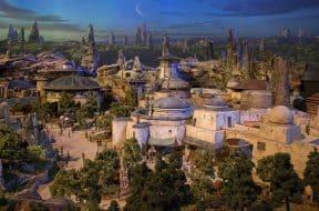 Star Wars Land at Disney's Hollywood Studios model