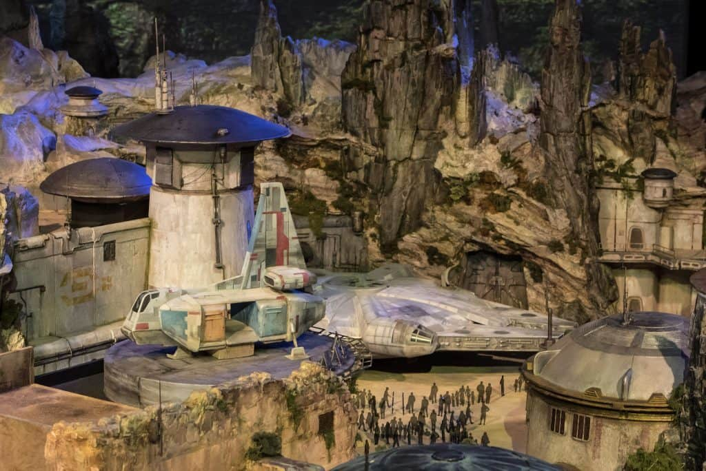 The Star Wars Land model that Disney brought to its D23 Expo 2017