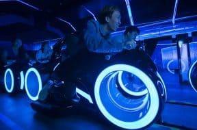 Tron Lightcycle Power Run ride vehicle