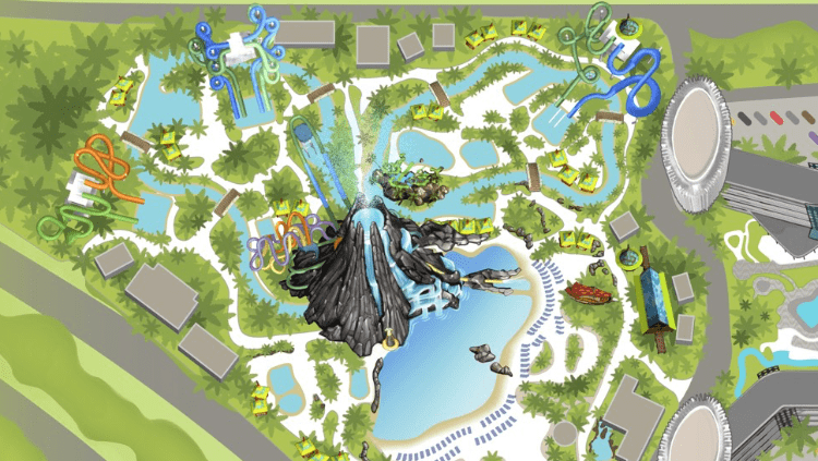 Volcano Bay map on the official Universal Orlando app