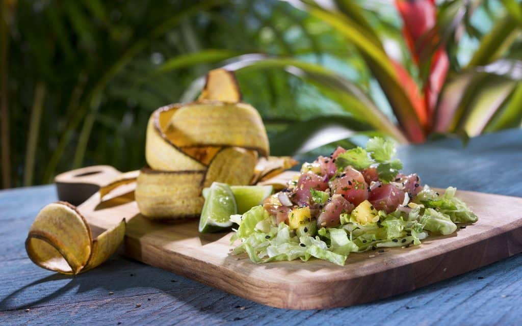 Poke Poke Bowl formerly offered at Universal's Volcano Bay