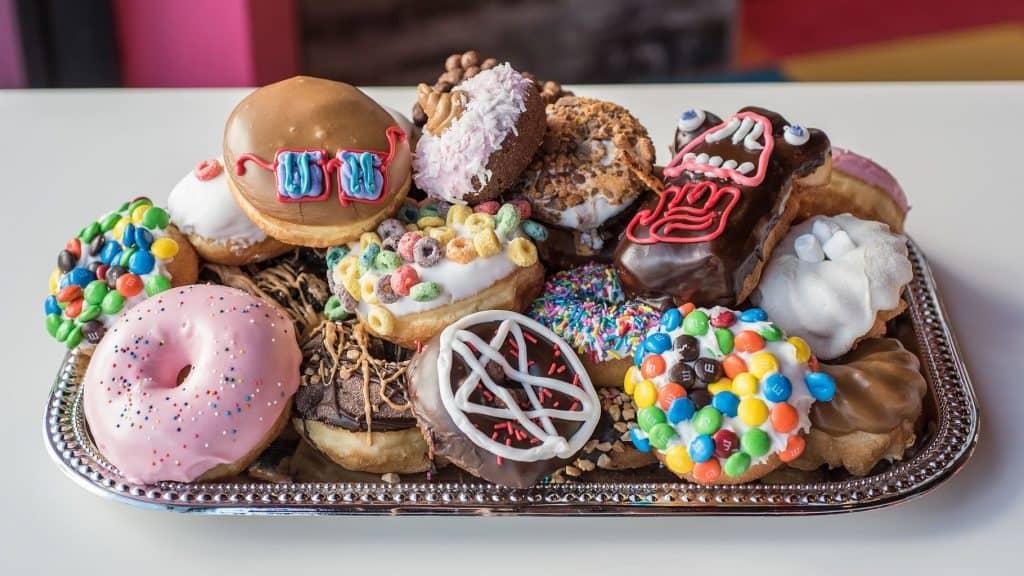 Just a few of Voodoo Doughnut's crazy concoctions