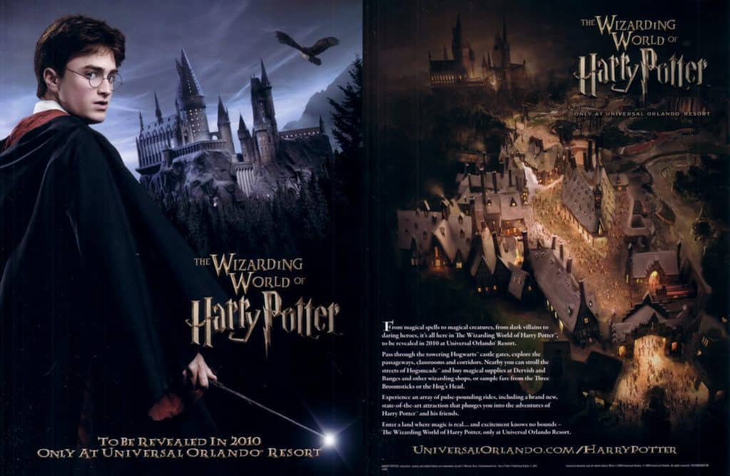 Wizarding World of Harry Potter opening press materials