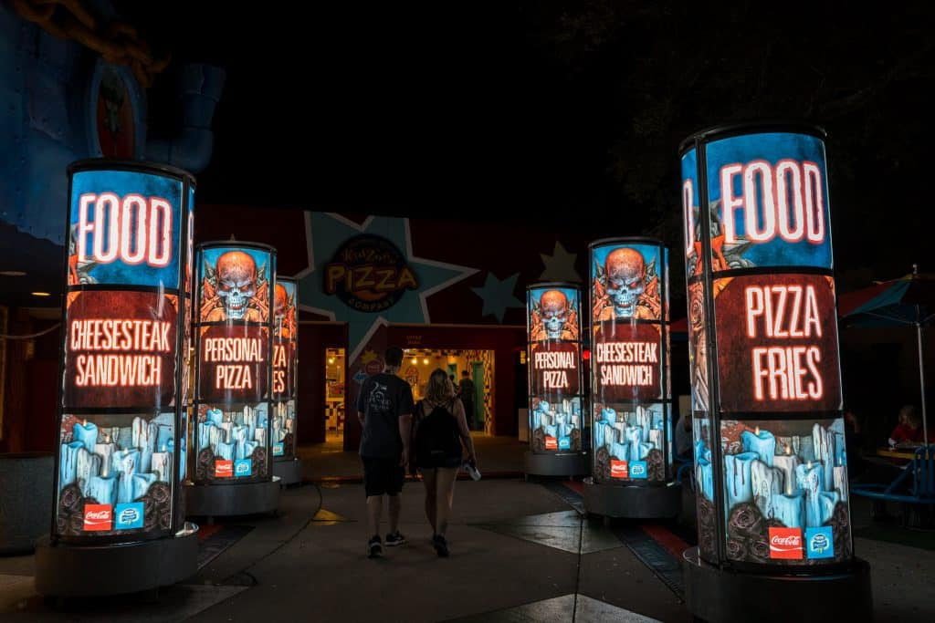 A food stand at Universal Orlando's Halloween Horror Nights