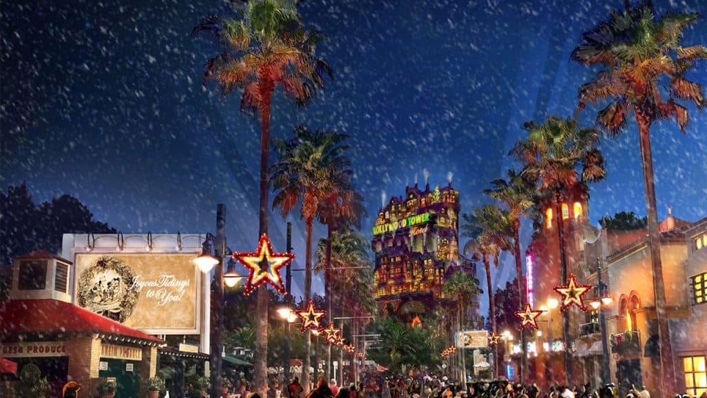 Sunset Season's Greetings at Disney's Hollywood Studios
