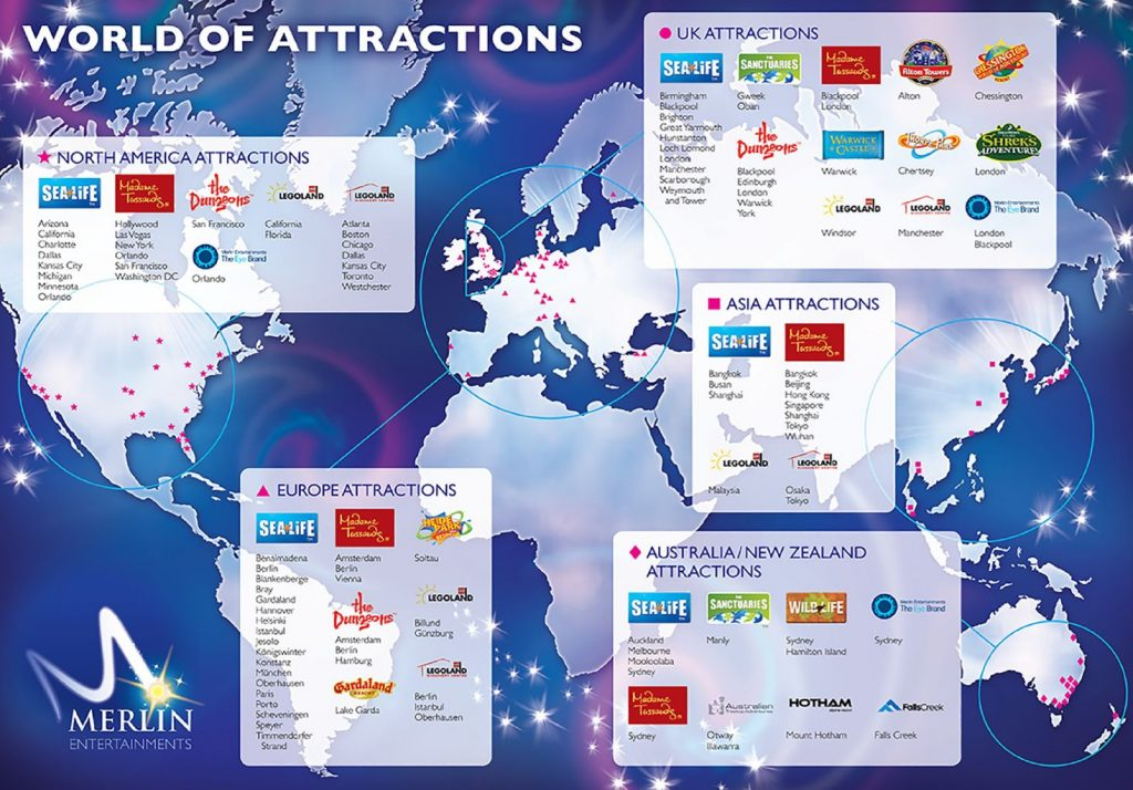 Merlin Entertainments's lineup of global attractions