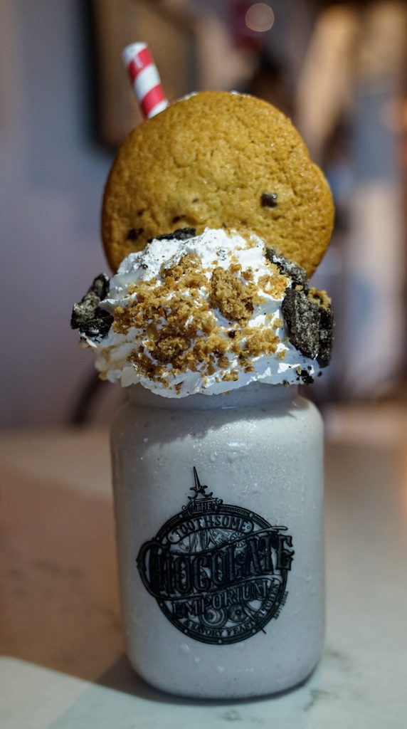 Cookie Jar Shake at Toothsome Chocolate Emporium