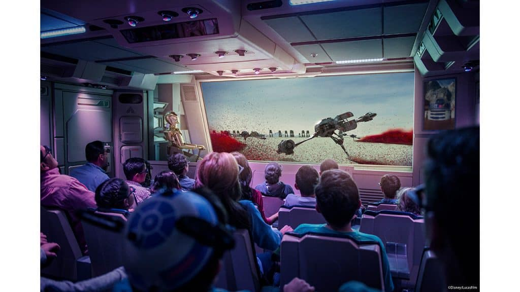Crait in Star Tours :The Adventures Continue