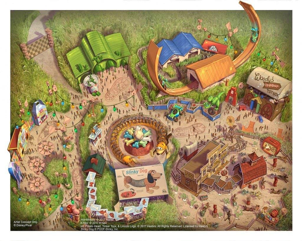 Disney Toy Story Land at Shanghai Disneyland concept art