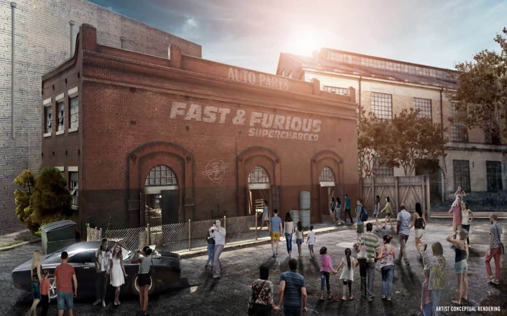 Fast & Furious: Supercharged's show building at Universal Studios Florida
