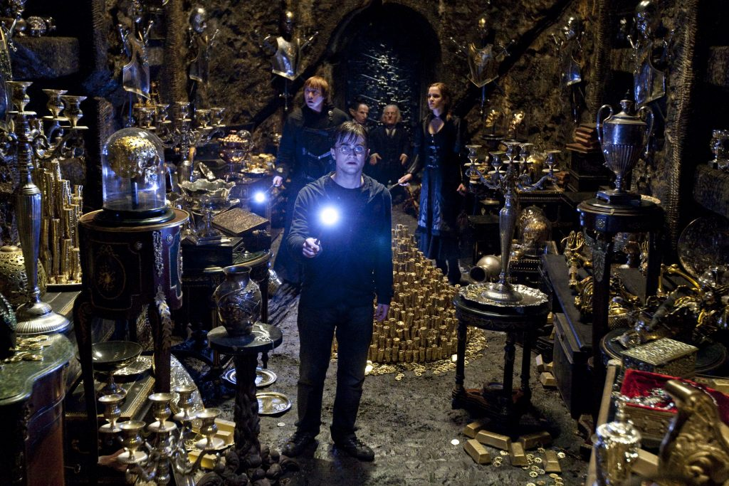 "The Gringotts vault scene from ""Harry Potter and the Deathly Hallows, Part 2"""