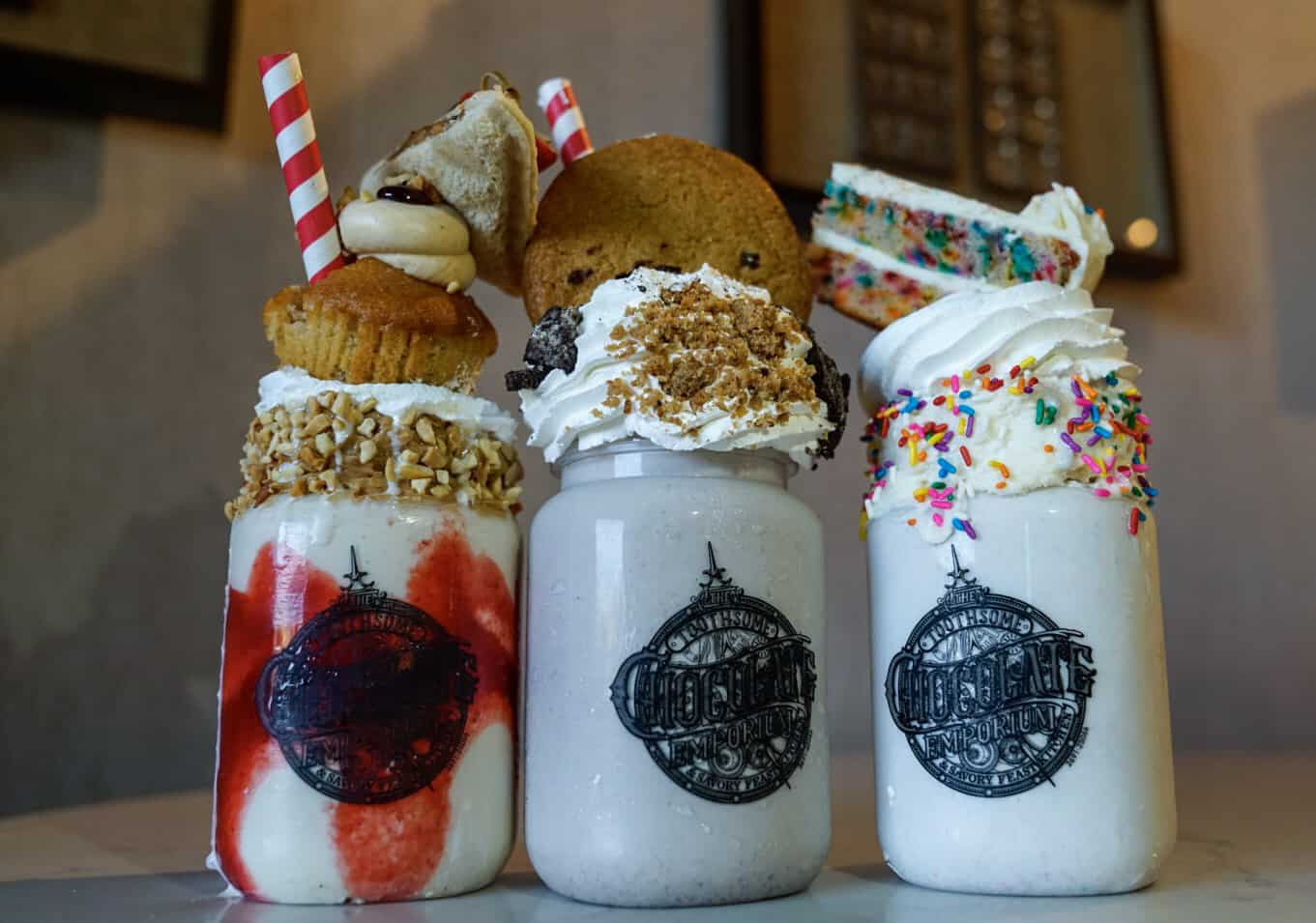The three new milkshakes of Toothsome Chocolate Emporium