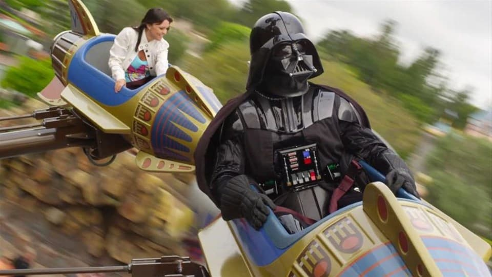 Darth Vader in Disneyland