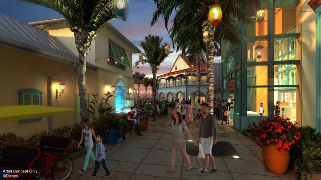 Concept art for Disney's Caribbean Beach Resort