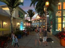 Concept art for Disney's Caribbean Beach Resort