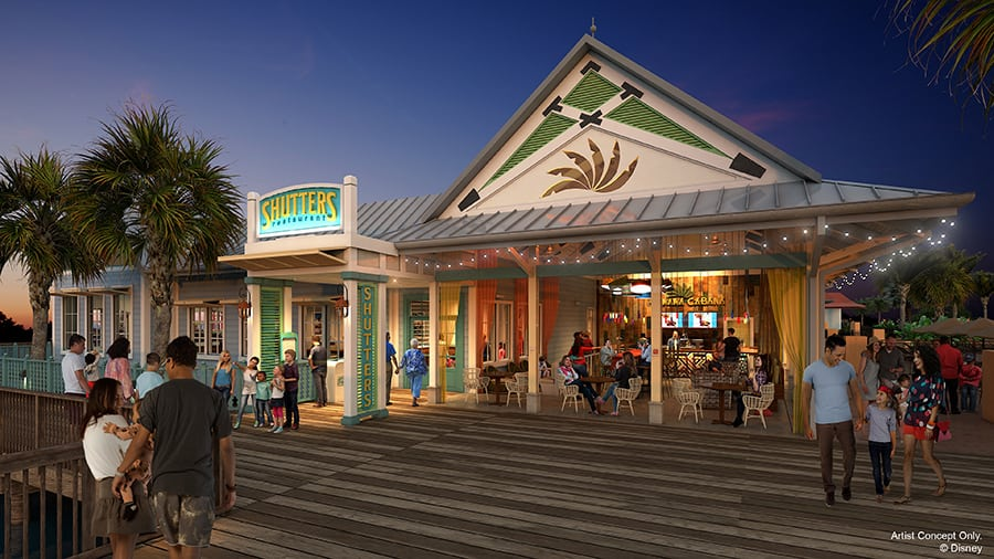 Shutters concept art at Disney's Caribbean Beach Resort