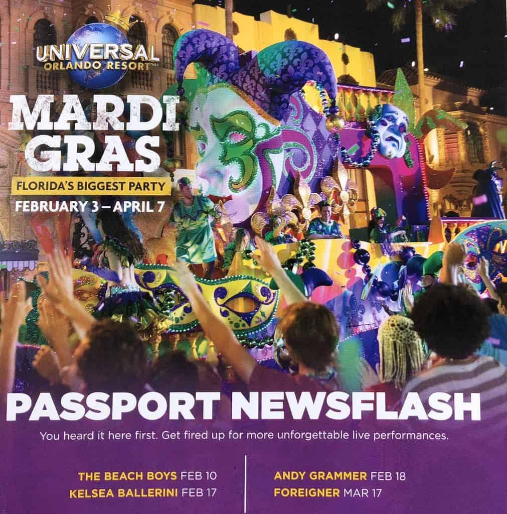 Mardi Gras 2018 Passport newsflash