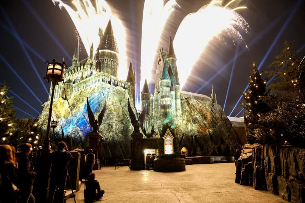 Nighttime Lights at Hogwarts Castle at Islands of Adventure 5