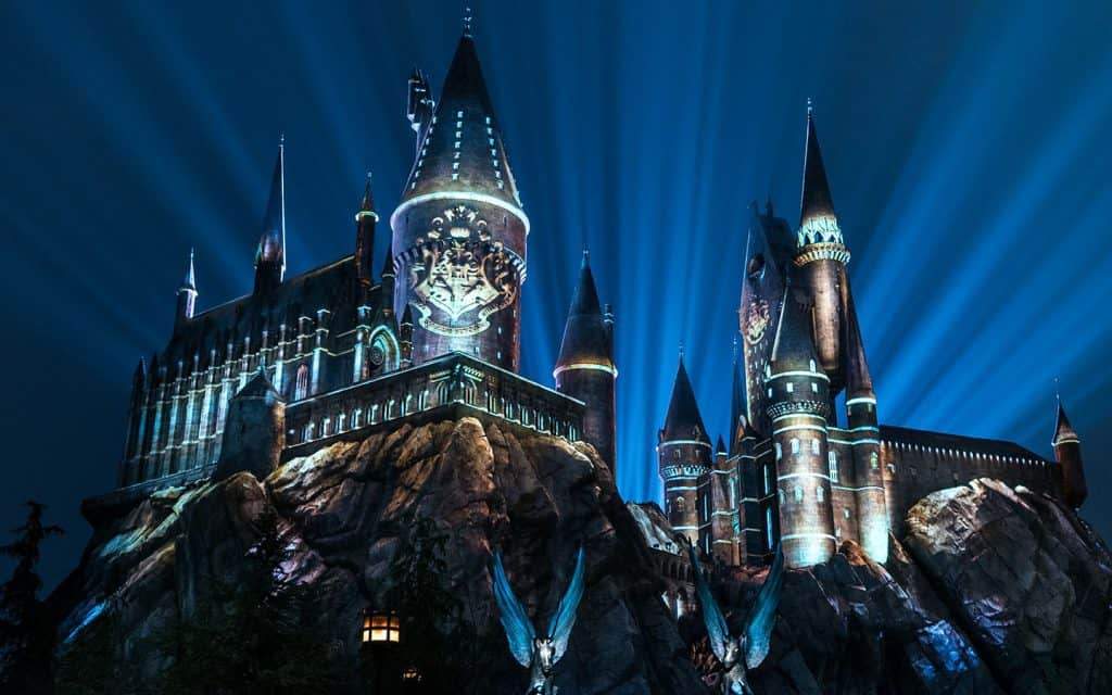 The Nighttime Lights at Hogwarts Castle at Universal's Islands of Adventure