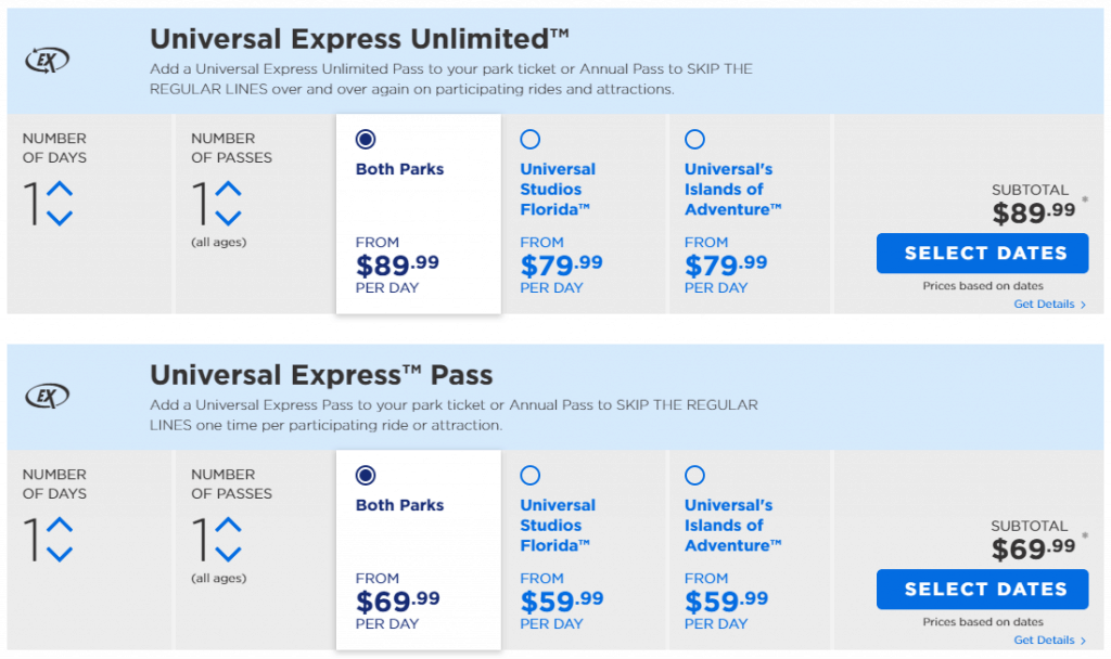 Universal Orlando Express Passes - complete insider's guide