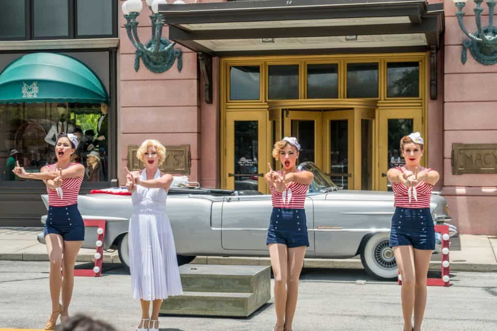 Marilyn Monroe and the Diamond Bellas at Universal Studios Florida