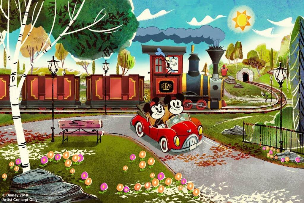 Mickey and Minnie's Runaway Railway concept art