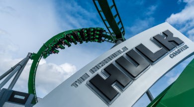 The Incredible Hulk Coaster at Islands of Adventure