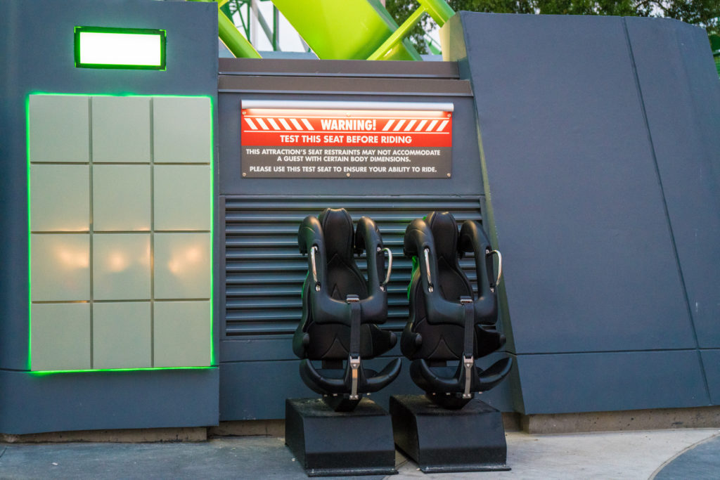 The Incredible Hulk Coaster test seats