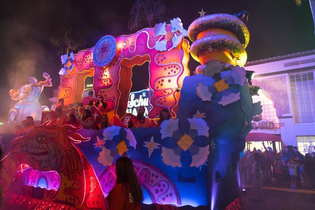 The Orphiuchus float in Universal's Mardi Gras 2018 parade