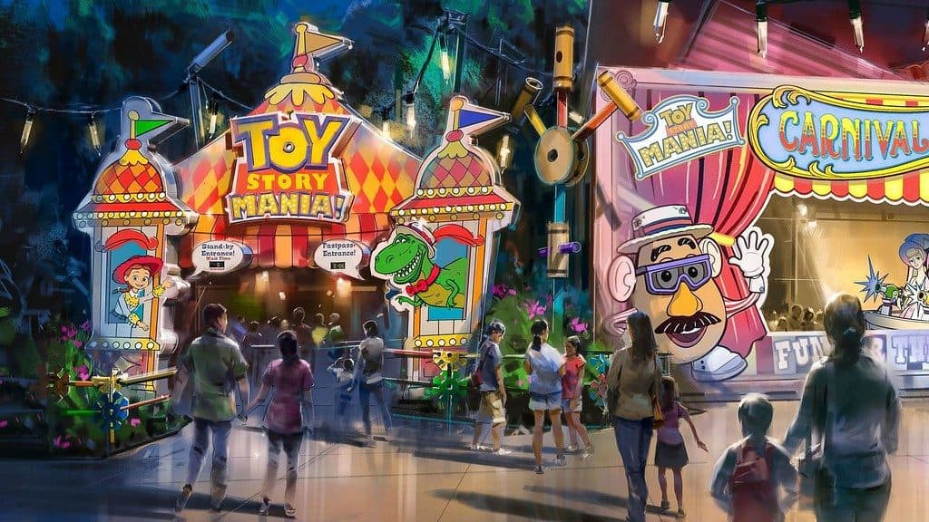 Toy Story Midway Mania at Disney World's Toy Story Land