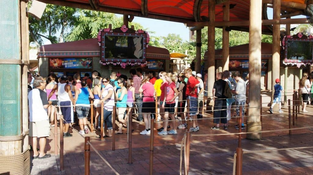 Long line to purchase tickets at Universal's Islands of Adventure
