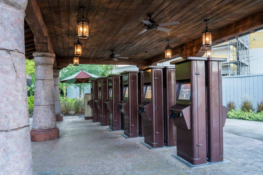 Electronic Will Call Kiosks area at Islands of Adventure.