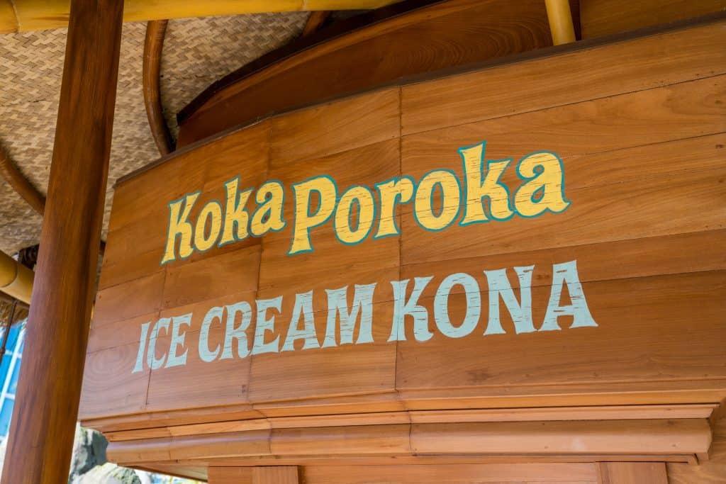 Koka Poroka Ice Cream Kona
