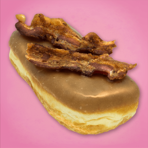Bacon Maple Bar from Voodoo Doughnut at Universal Orlando CityWalk