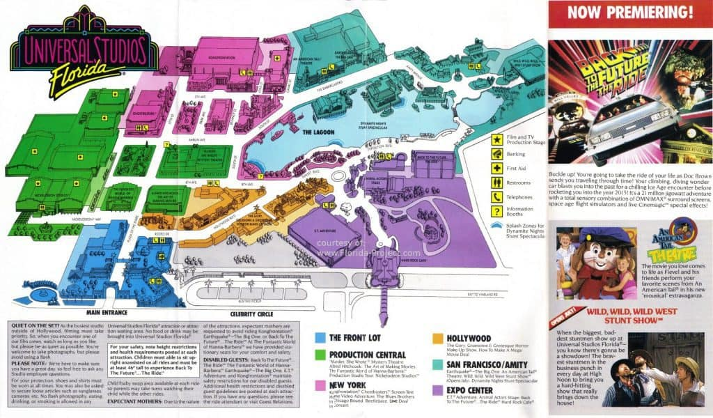 Universal Studios Florida guide map 1991