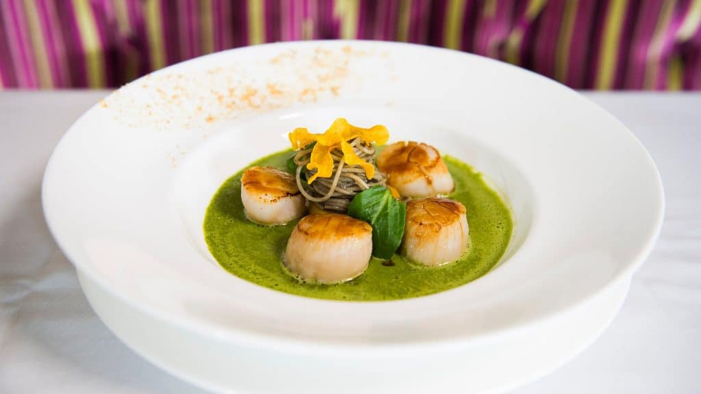 scallops at Monsieur Paul